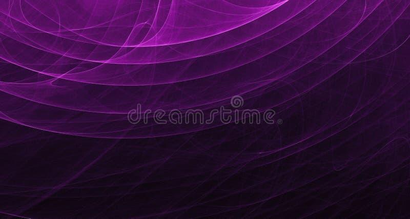Abstrakt purpur i menchii światła łuny, promienie, kształtują na ciemnym tle ilustracja wektor