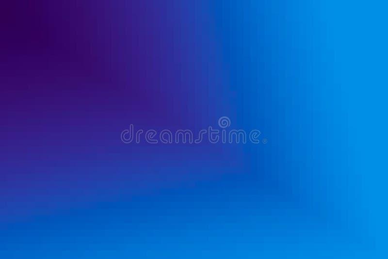 Abstrakt purpurfärgad och blå diagonal lutningbakgrund Textur med fyrkantiga kvarter för PIXEL Mosaisk modell stock illustrationer