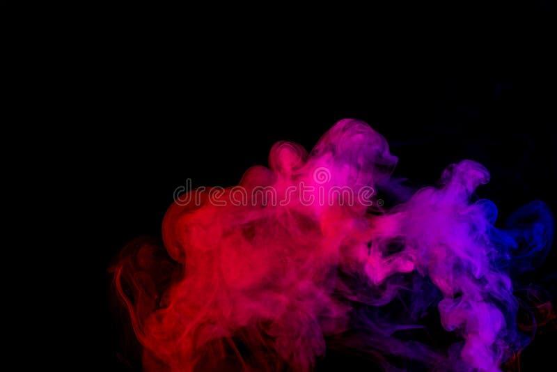 Abstrakt purpurfärgad rosa färgrök Weipa arkivfoton