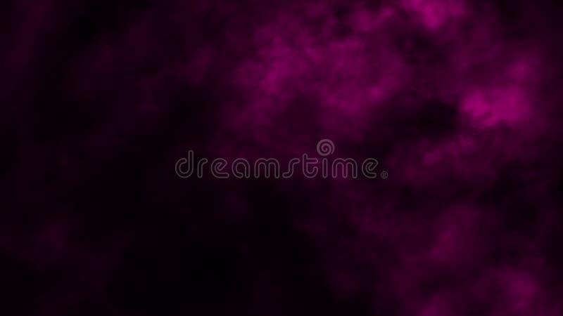 Abstrakt purpurf?rgad r?kmistdimma p? en svart bakgrund textur arkivfoton