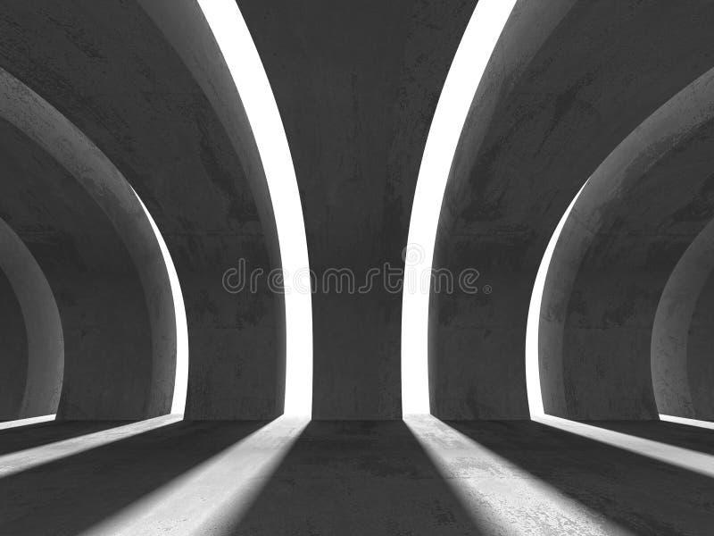 Abstrakt Pustej betonowej ściany Izbowy Wewnętrzny tło royalty ilustracja