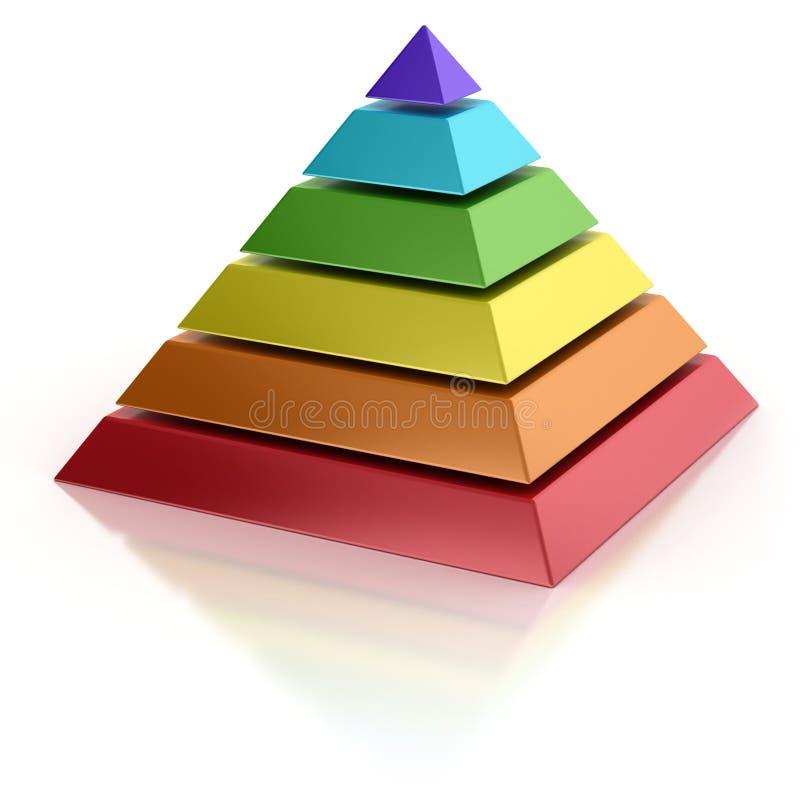 Abstrakt pyramid royaltyfri illustrationer