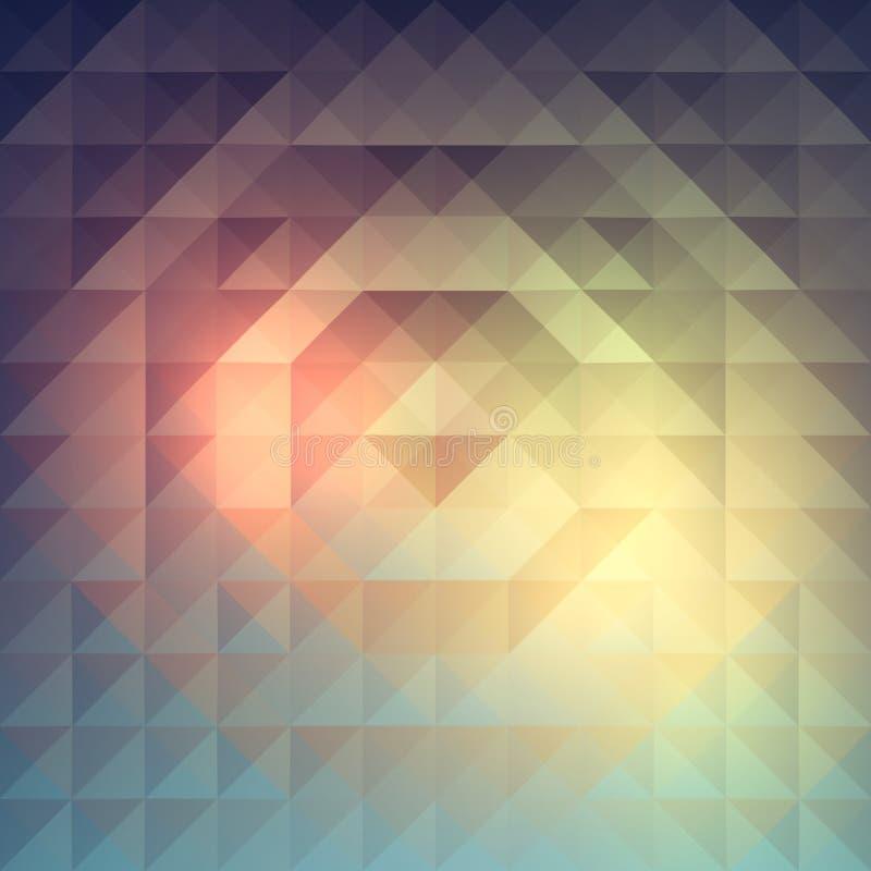 Abstrakt pyramidal modell royaltyfri foto