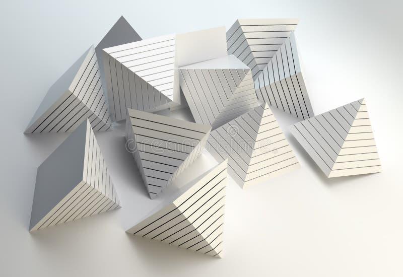 abstrakt pyramider 3d vektor illustrationer