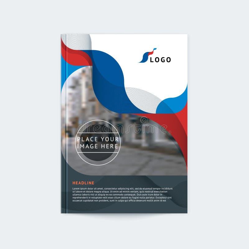 Abstrakt räkningsdesign, affärsbroschyrmall, orientering, rapport, tidskrift, häfte i A4 vektor illustrationer