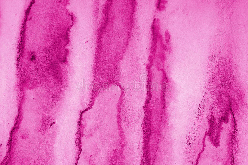 Abstrakt różowa akwarela na papierowej teksturze jako tło obrazy stock