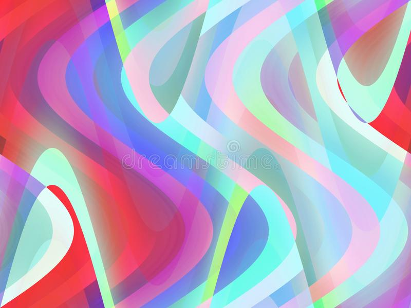 Abstrakt różowe błękitne rzadkopłynne geometrie, figlarnie geometrii tło, grafika, abstrakcjonistyczny tło i tekstura, ilustracja wektor