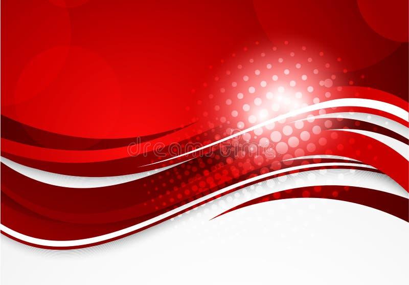 Abstrakt röd bakgrund stock illustrationer