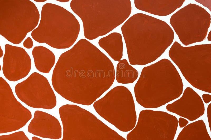 Abstrakt röd brun färg av girafftextur fotografering för bildbyråer