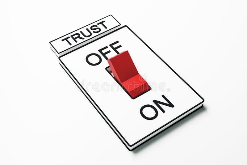 Abstrakt röd förtroendeströmbrytare stock illustrationer