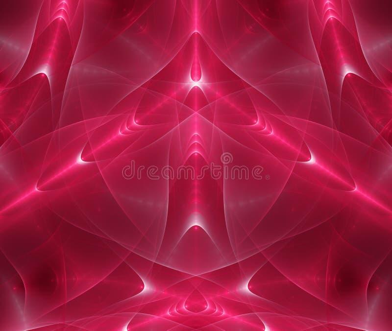 Abstrakt röd fractalmagi vektor illustrationer