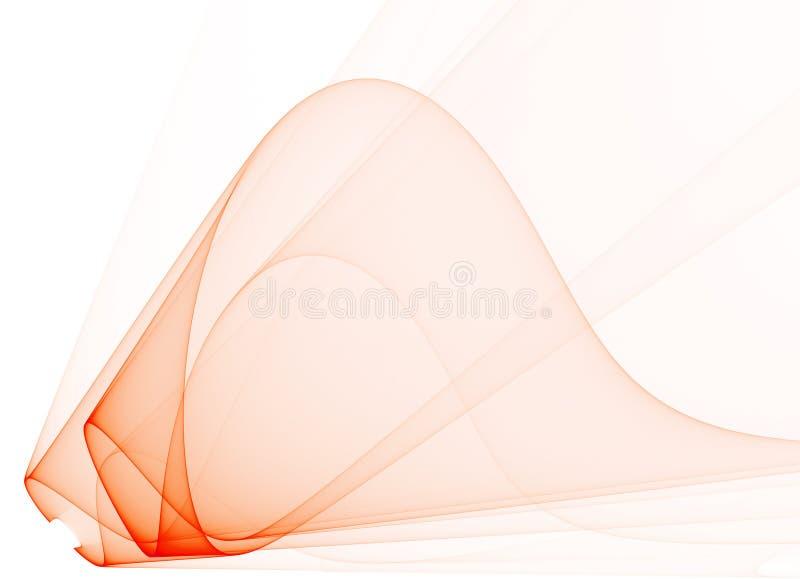 Abstrakt röd genomskinlig fractalform på en vit vektor illustrationer