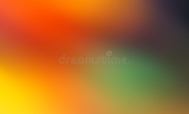 Abstrakt röd, gul, lila- och blåttsuddighet färgar lutningbakgrund vektor illustrationer