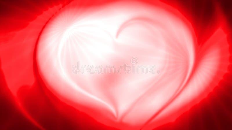 Abstrakt röd vågbakgrund för hjärta 3d royaltyfria bilder
