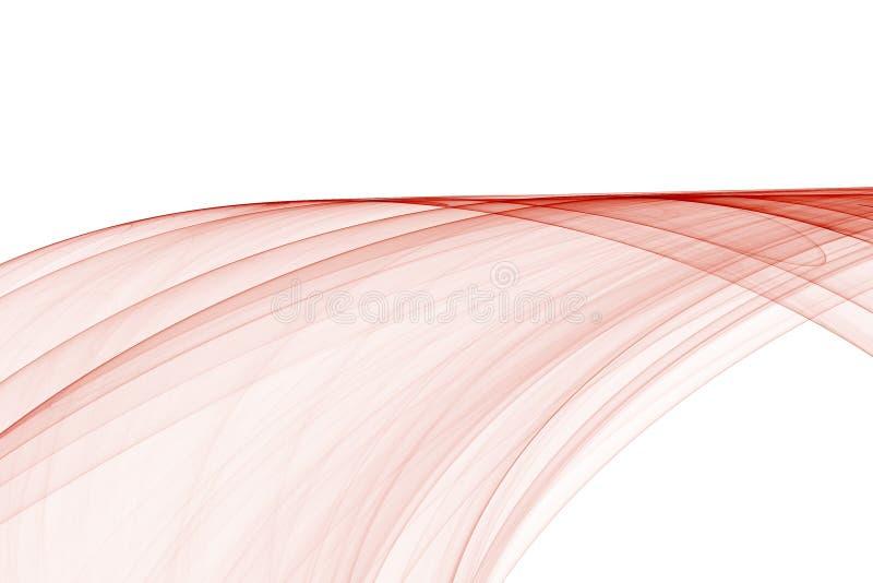 abstrakt röd wave stock illustrationer