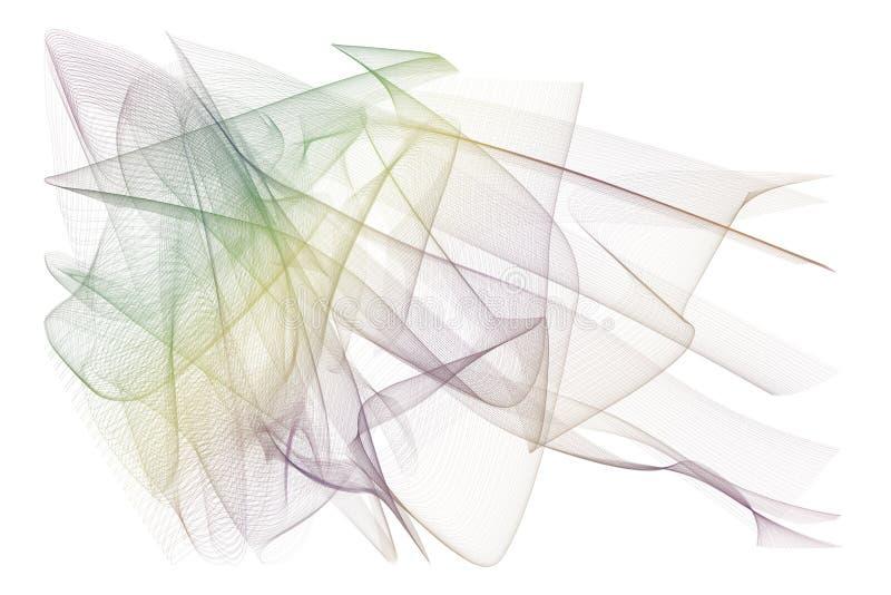 Abstrakt rökig linje konstillustrationbakgrund Kanfas räkning, grafiskt & generativt arkivfoto