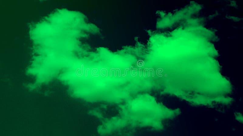Abstrakt rökig molnskogklartecken - bakgrund för effekter för blandning för grön färg stock illustrationer