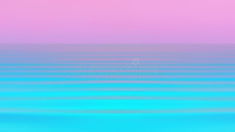 Abstrakt rörelse gjorde suddig Seascapebakgrund i vibrerande Holographic neonfärger arkivfoto
