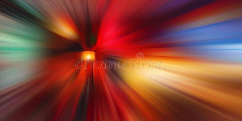 Abstrakt rörelsehastighetsbakgrund, färgrika linjer och suddighet arkivfoton