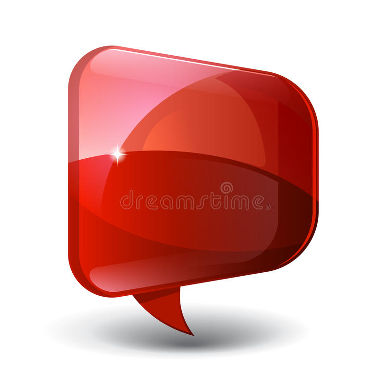 Abstrakt rött blankt Glass baner vektor illustrationer