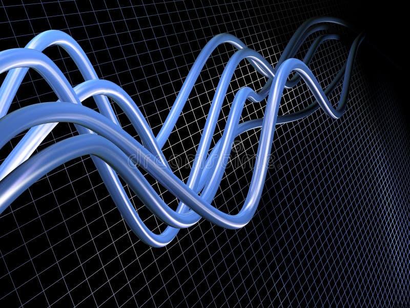 abstrakt rør vektor illustrationer