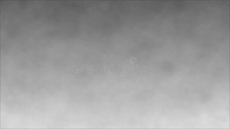 abstrakt r?k turbulenser f?r r?k f?r svart oklarhet f?r bakgrund Vit rök på grå lutningbakgrund illustration 3d vektor illustrationer