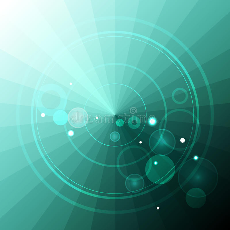 Abstrakt radar på turkostrianglar vektor illustrationer