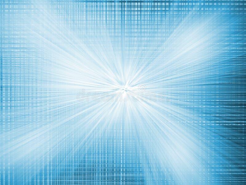 Abstrakt radiellt suddighetszoomljus - blå bakgrund royaltyfri illustrationer