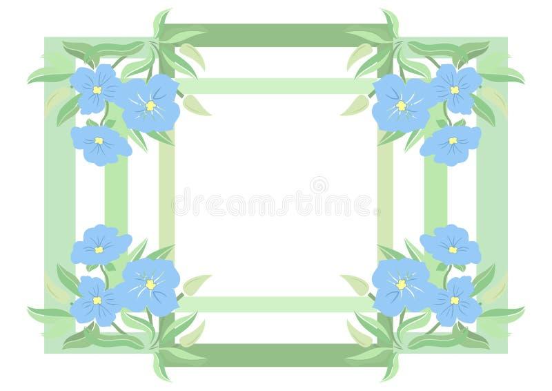 Abstrakt rama i kwiaty ilustracji