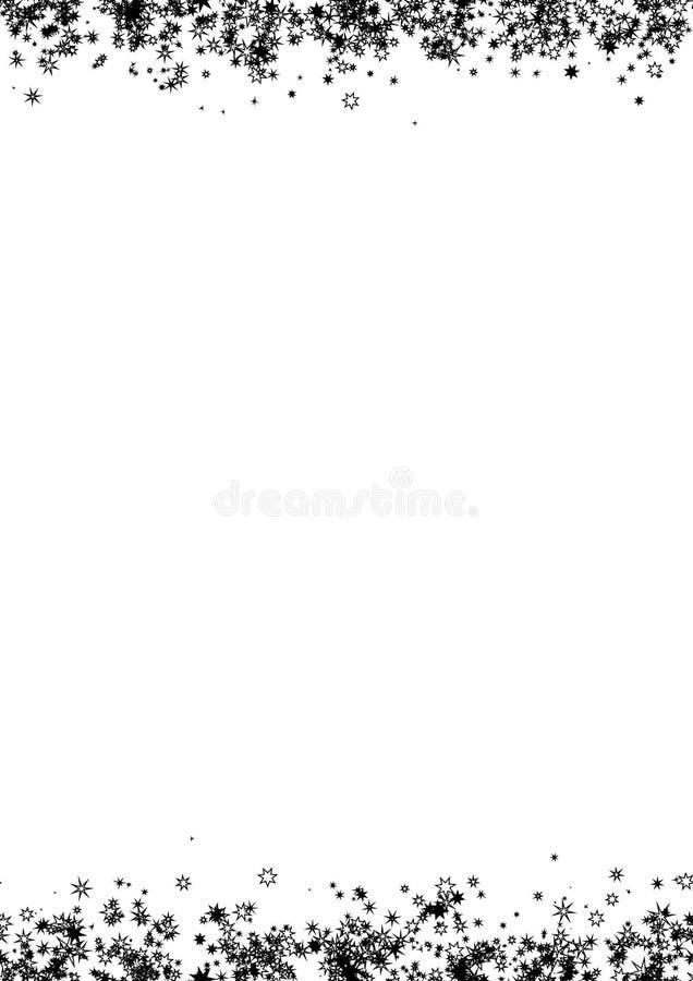 Abstrakt rama robić czerń gra główna rolę na białym tle A4 papierowy rozmiar Wektorowa czarny i biały bezszwowa ilustracja ilustracji