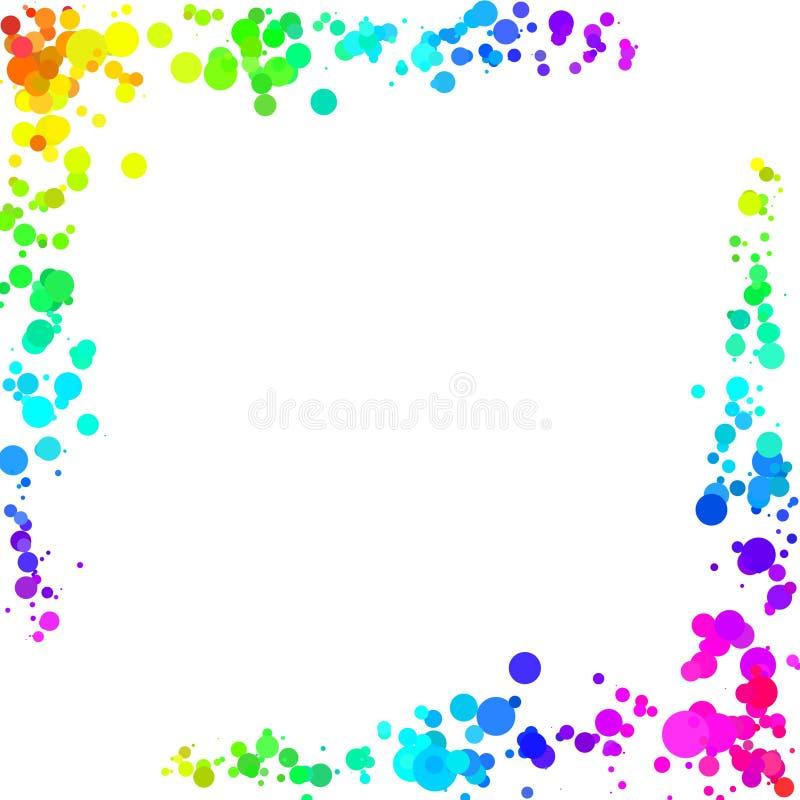Abstrakt rama robić kolorowi okręgi na białym tle ilustracja wektor