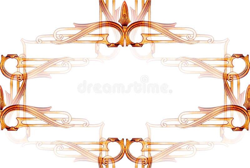 abstrakt rammetalworktappning royaltyfri illustrationer