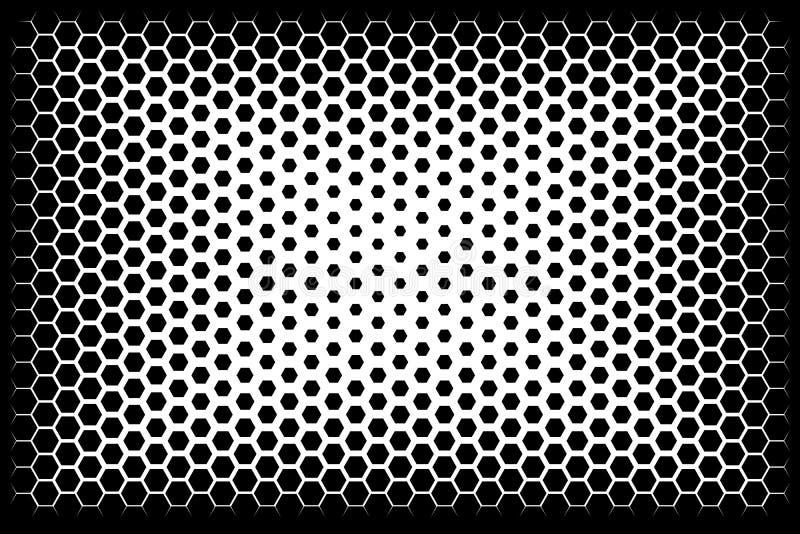 Abstrakt rastrerad bakgrund för original av sexhörningar vektor royaltyfri illustrationer
