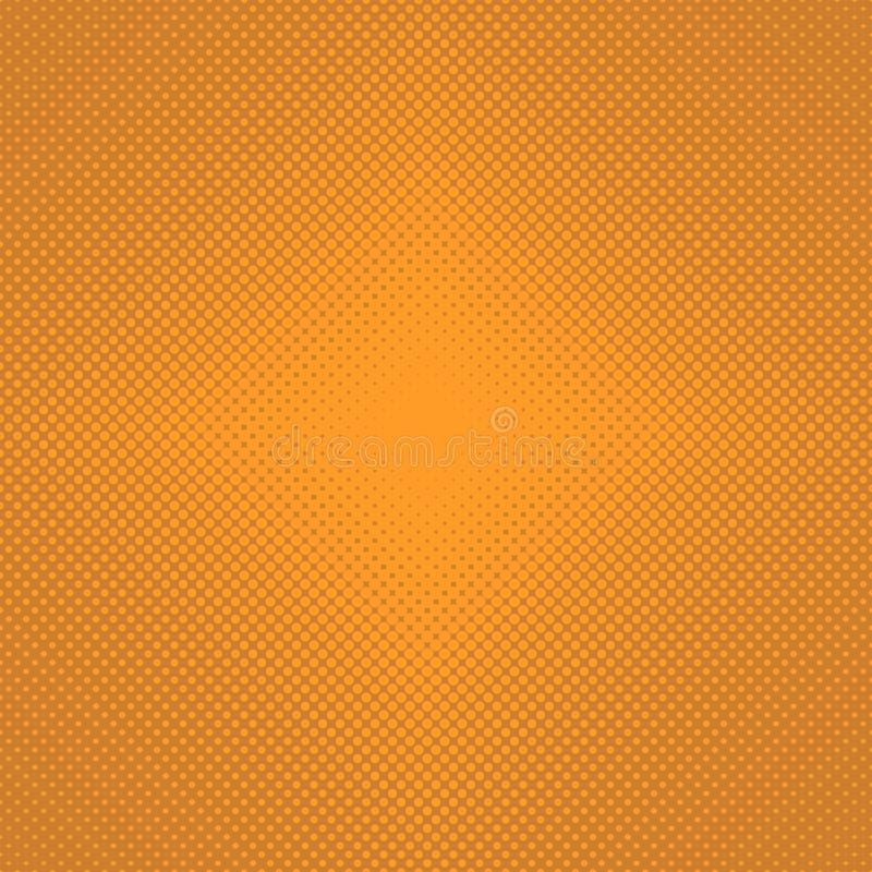 Abstrakt rastrerad bakgrund för prickmodell - grafisk design för vektor från orange cirklar stock illustrationer