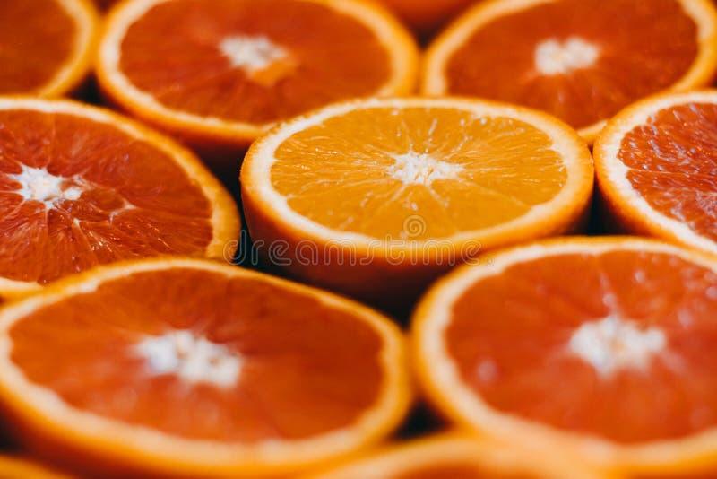abstrakt red för fotografi för grapefrukten för frukt för bakgrundscitrusclosen skivar upp studion Närbild arkivfoton