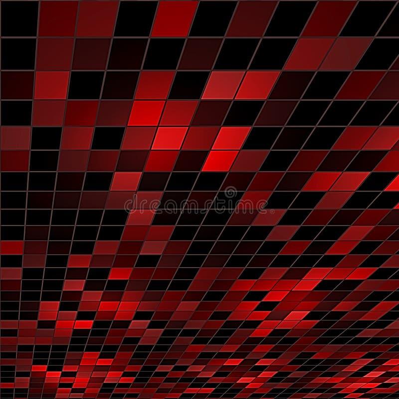 Abstrakt red - svart bakgrund. vektor illustrationer