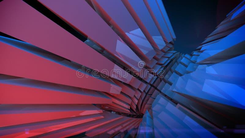 Abstrakt reflekterande skinande plast- tolkning för form 3d royaltyfri bild
