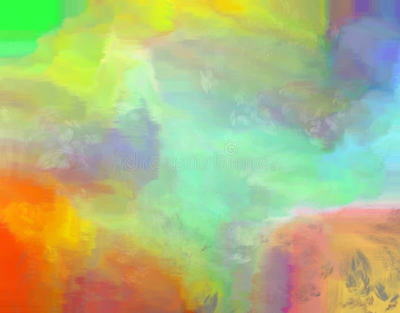 Abstrakt regnbåge färgad målad bakgrund arkivfoto
