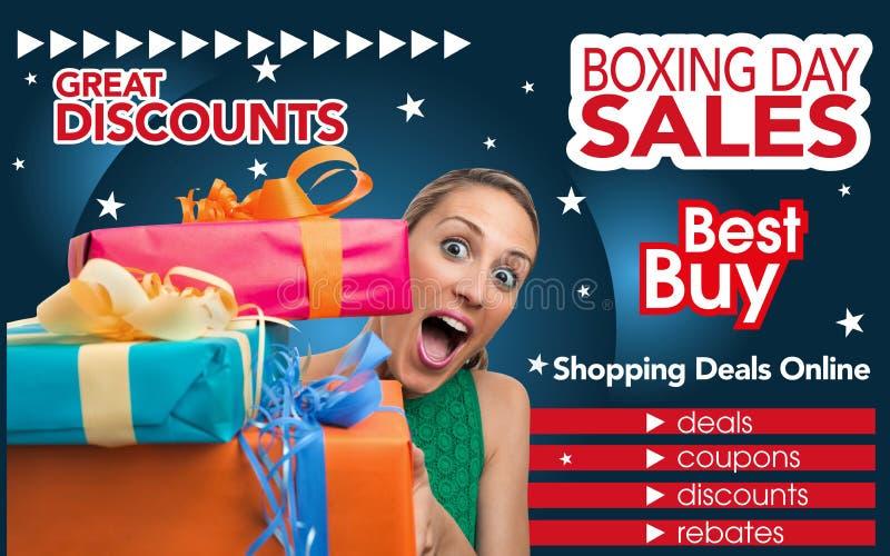 Abstrakt reklamblad för att shoppa på annandaghandel royaltyfri fotografi