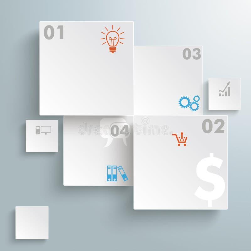 Abstrakt rektangelInfographic design PiAd vektor illustrationer