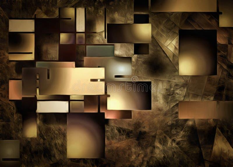 Abstrakt rektangulär formsammansättning stock illustrationer