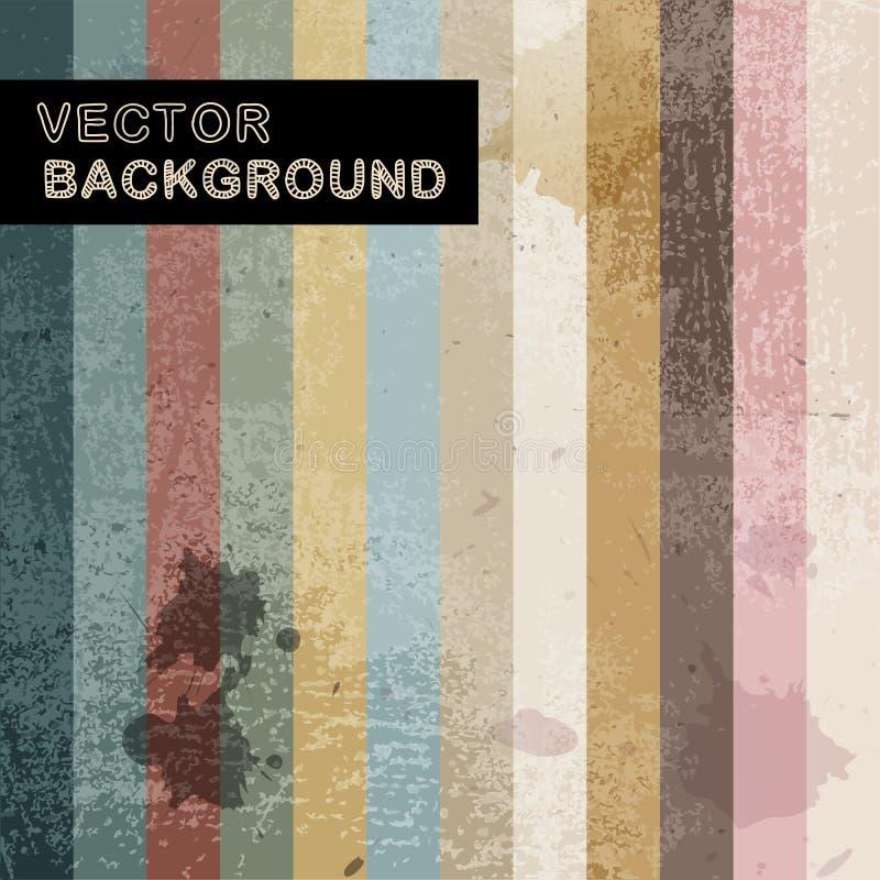 Abstrakt retro bakgrund med band stock illustrationer