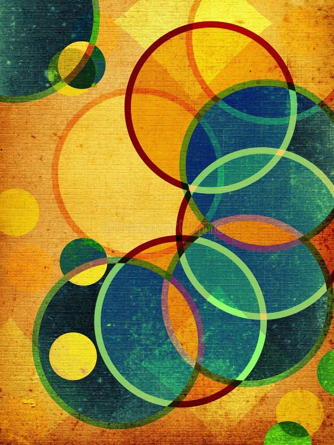 abstrakt retro former vektor illustrationer