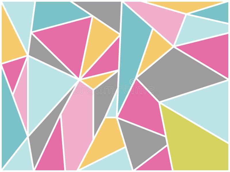 Abstrakt retro geometrisk bakgrundsvektor royaltyfri illustrationer