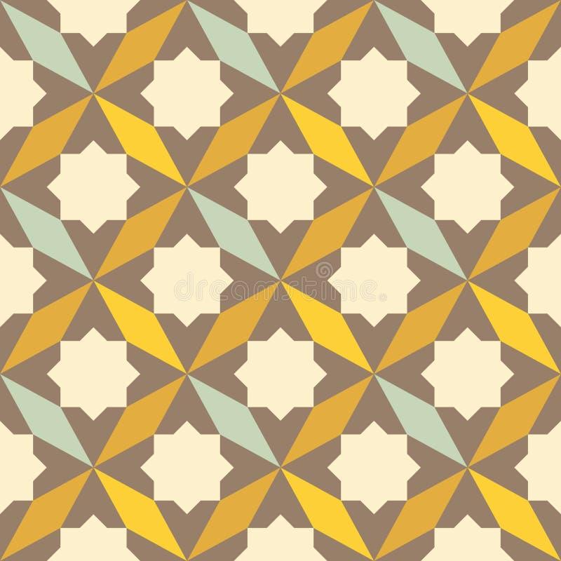 Abstrakt retro geometrisk modell royaltyfri illustrationer