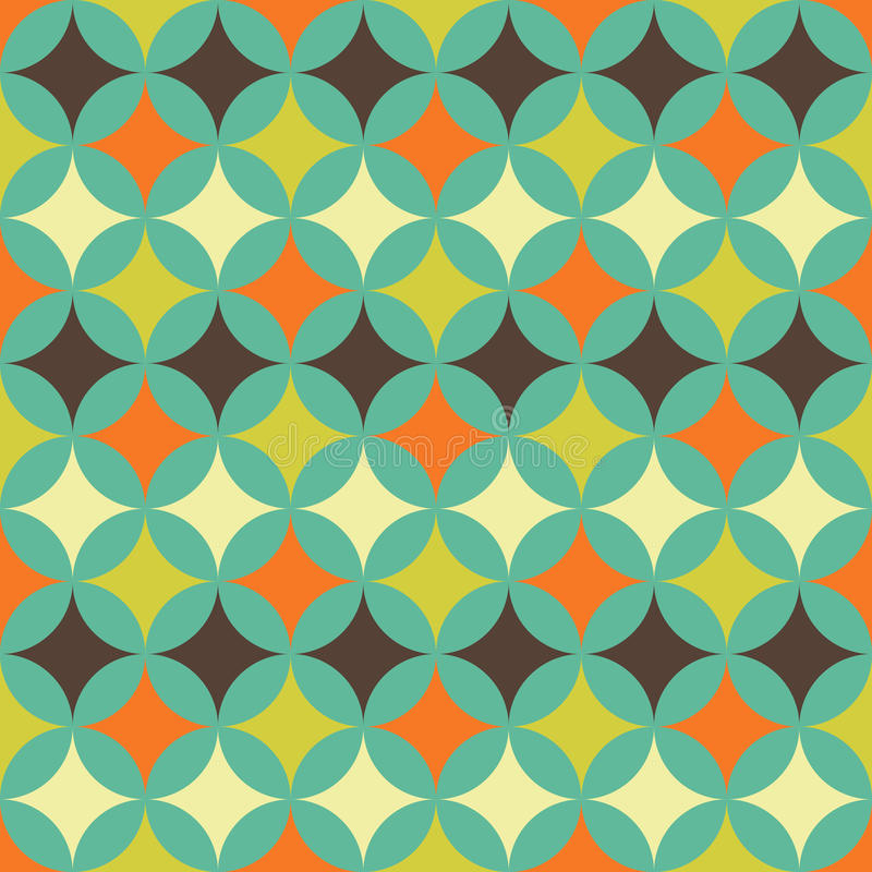 Abstrakt retro geometrisk modell stock illustrationer