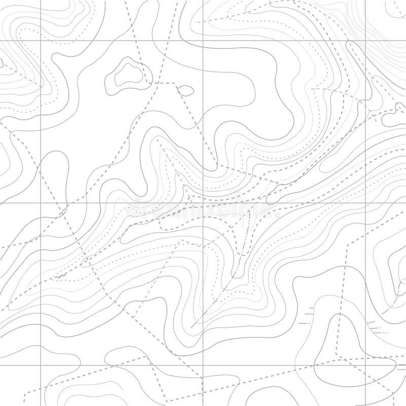 Abstrakt Retro topografiöversiktsbakgrund vektor illustrationer