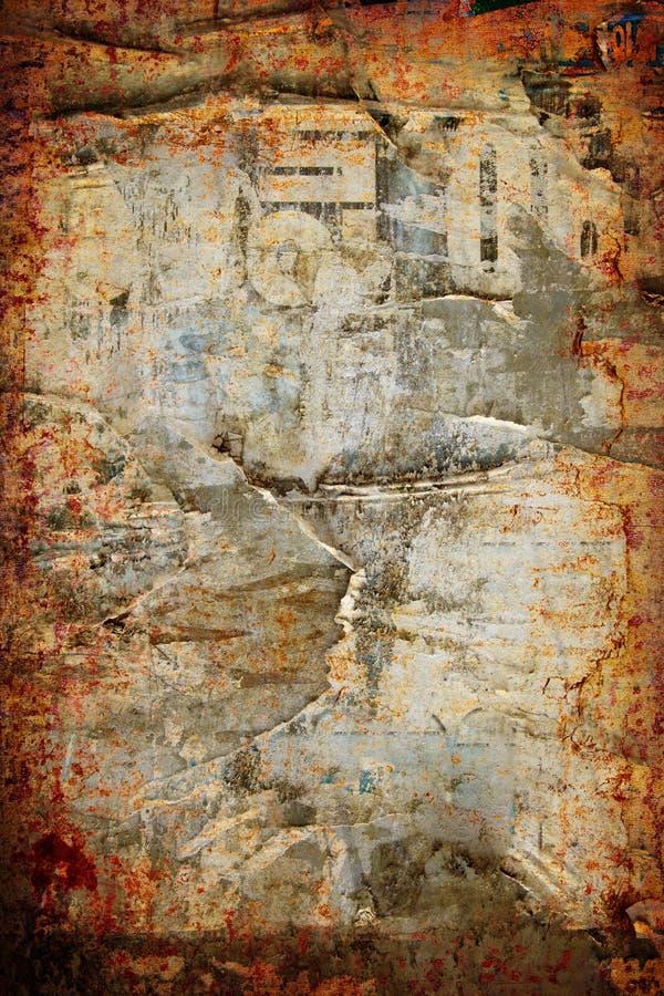 abstrakt riven sönder vägg för bakgrundsgrunge affisch arkivfoto