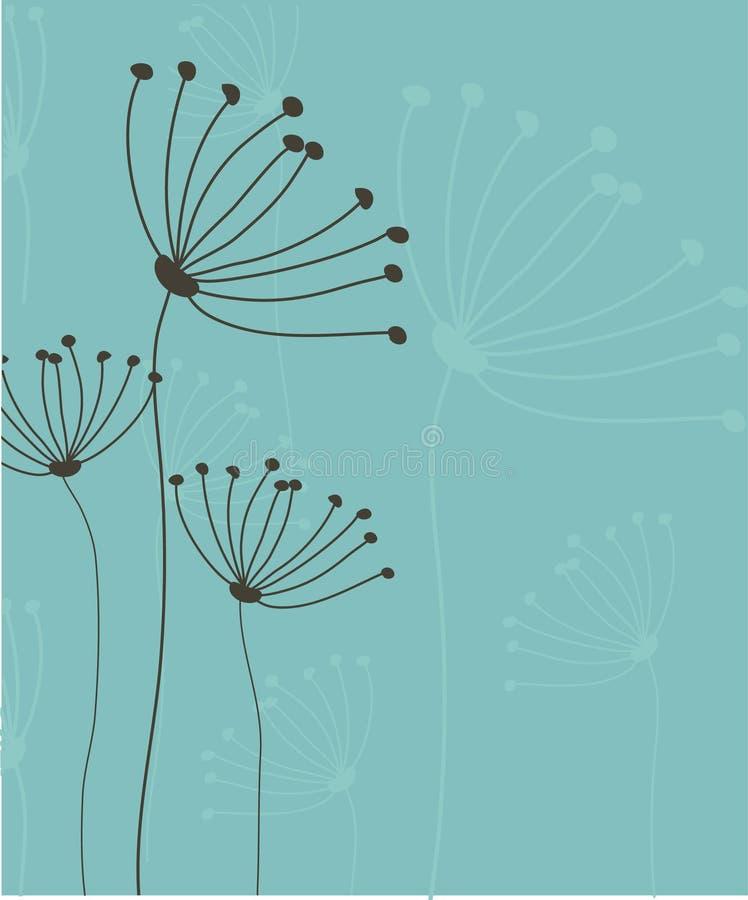 Abstrakt romantisk bakgrund med blom- vektor illustrationer