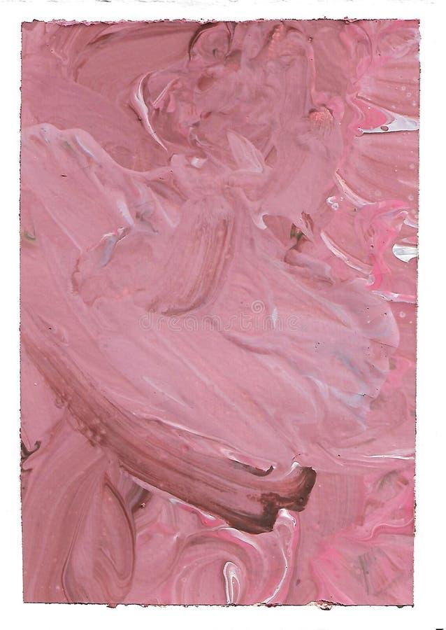 Abstrakt rosa bakgrund, dammig ros, burgundy, blått Fluid konst Borsteslaglängder, slumpmässig modell, fläckar och textur stock illustrationer